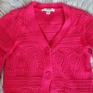 Liz Claiborne Knit Sweater/Cardigan Pink Color XS